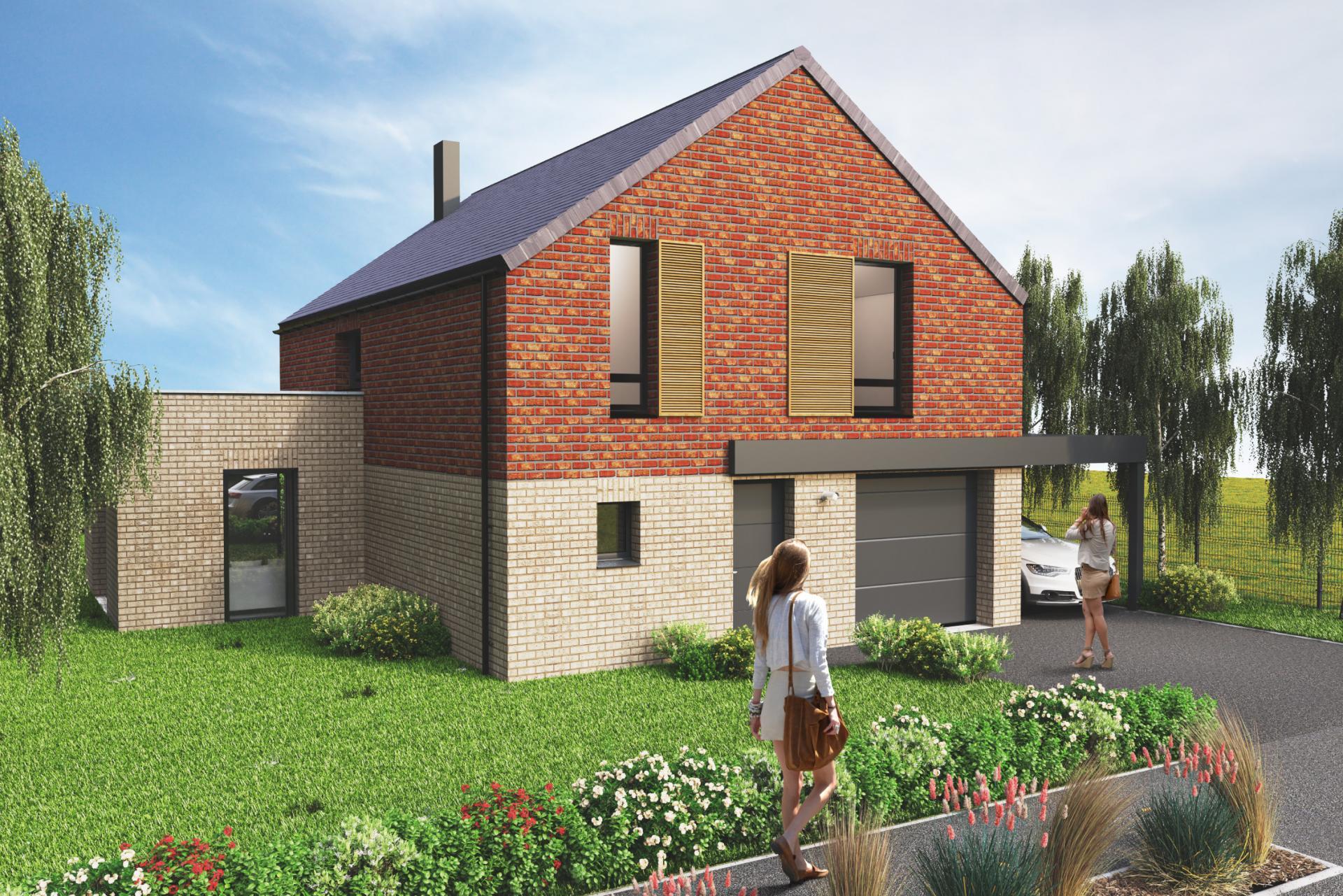 Maison neuve à Erquinghem-le-Sec 4 ou 5 pièces - Loger habitat
